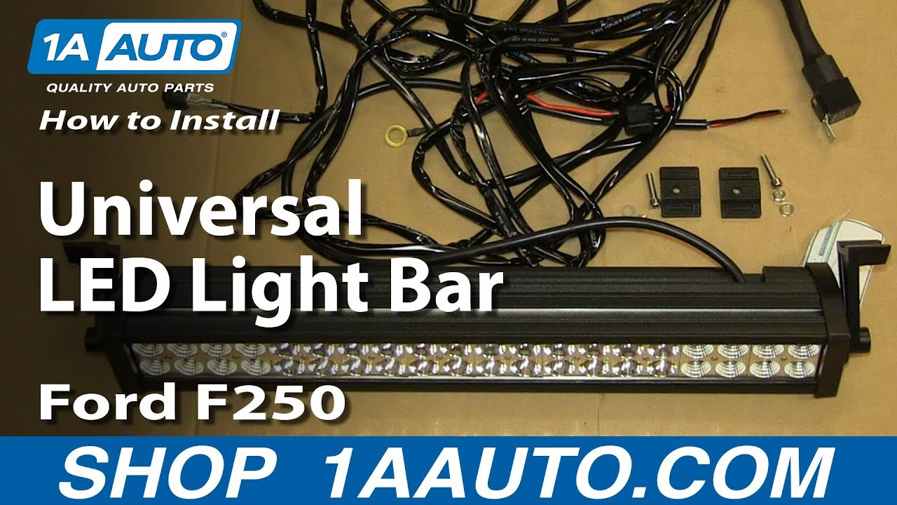 2000 Ford F250 Universal Led Light Bar Installation Youtube 73 F 250 Wiring