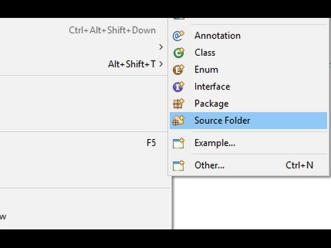 How to Create Source Folder in Eclipse IDE Tutorial