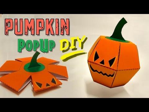 Pumpkin Popup Paper Bomb - Great Halloween DIY