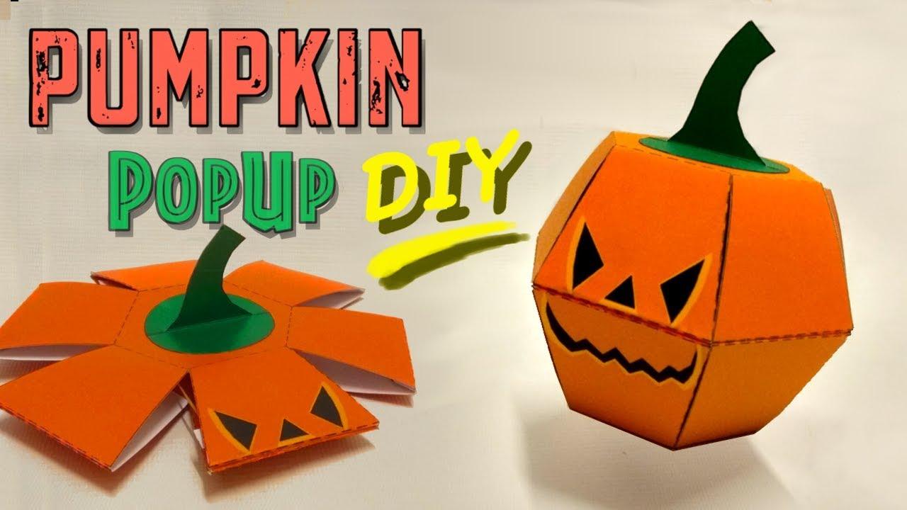 Halloween Pop Up Cards Templates.Pumpkin Popup Paper Bomb Great Halloween Diy