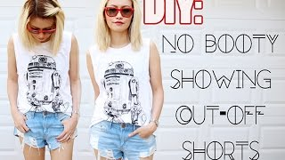 Repeat youtube video DIY: No Booty Showing Cut-Off Shorts