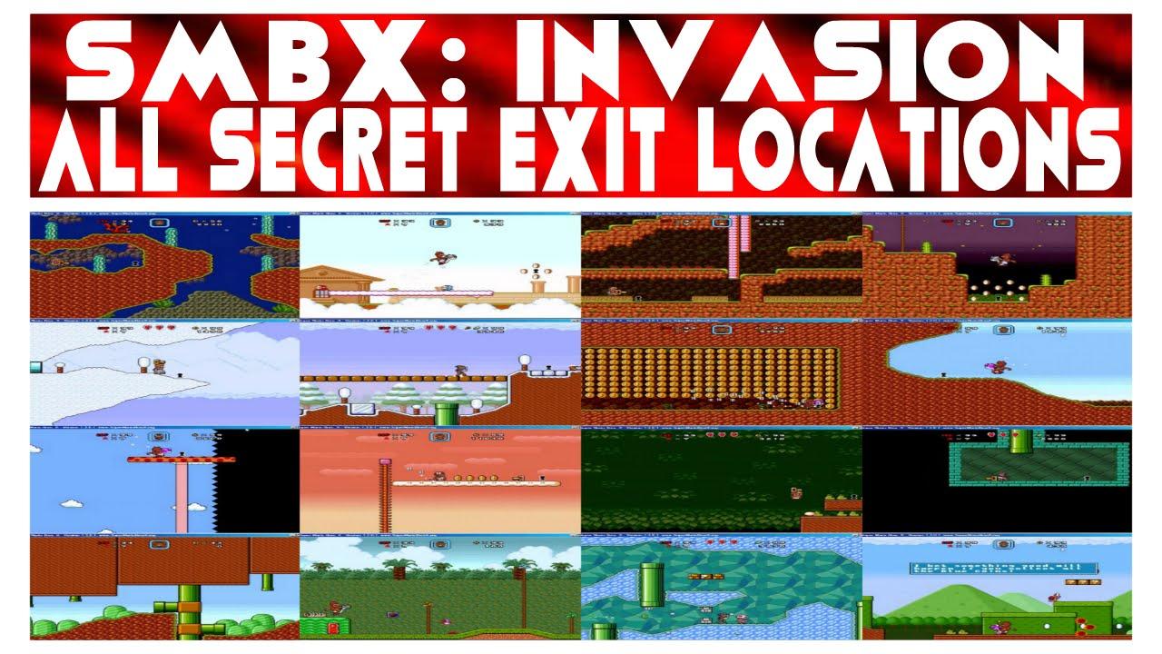 SMBX: The Invasion 2 - All Secret Exit locations (12)