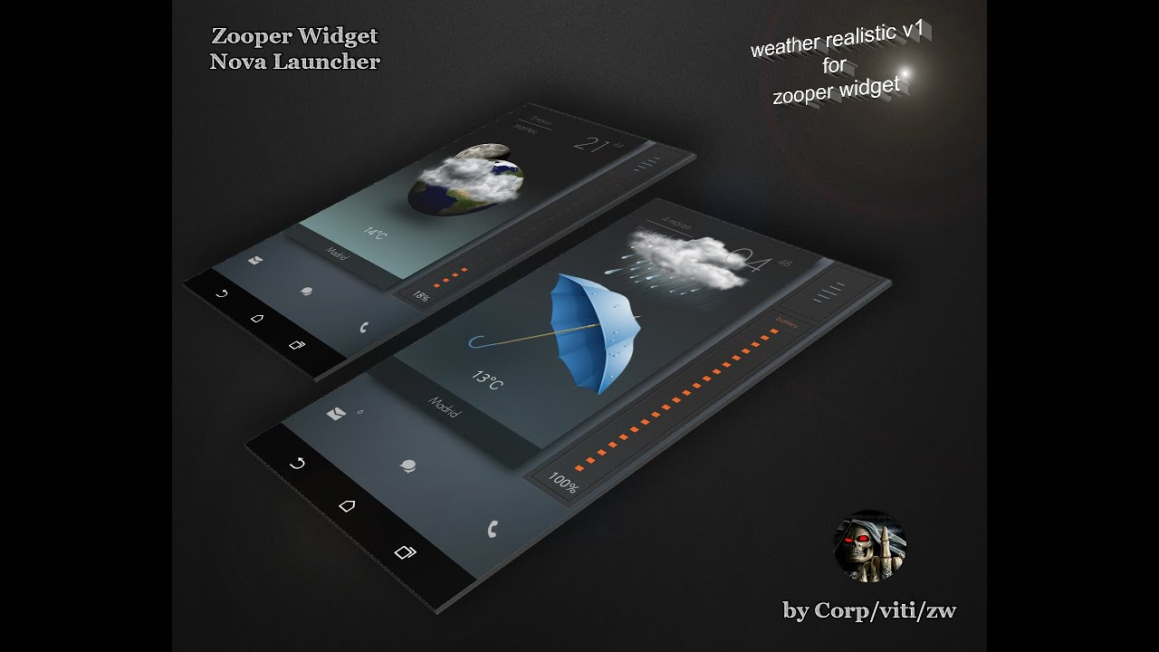 Weather Realistic V1 for Zooper Widget Pro