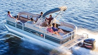 SUN TRACKER Boats: 2016 PARTY BARGE 24 DLX and XP3 Recreational Pontoon Boats