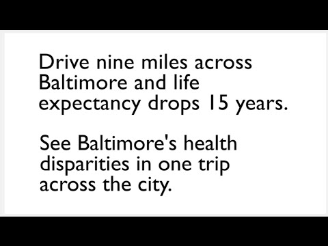 Healthcare Disparities: Drive Across the City Shows Drastic Drop in Life Expectancy