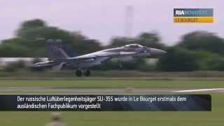 Premiere vor Publikum: Russlands SU-35S trudelt kunstvoll über Le Bourget