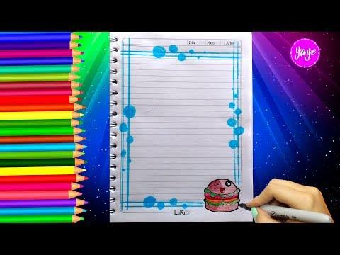 Ideas Para Márgenes De Cuadernos Cómo Dibujar Márgenes