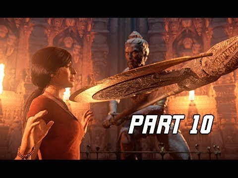 UNCHARTED THE LOST LEGACY Walkthrough Part 10 - TUSK (PS4 Pro Let's Play Commentary)