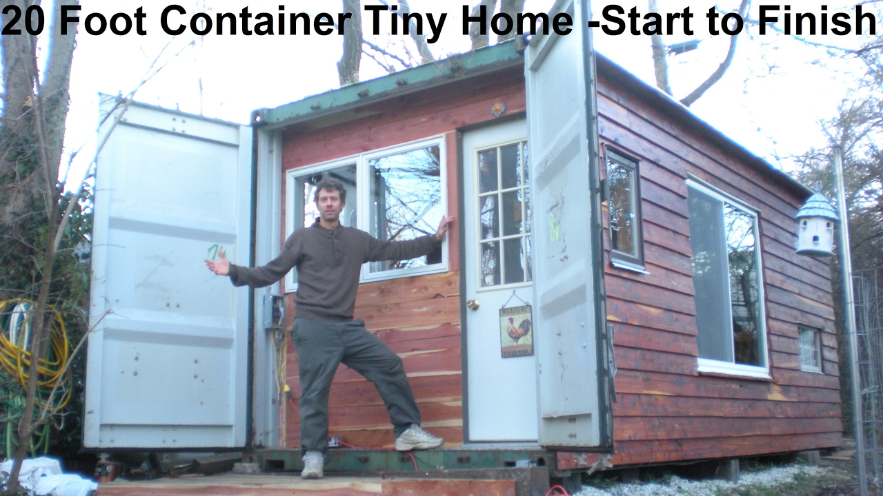 20 Foot Container Tiny Home Construction  From Start To