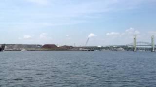 Piscataqua River Bridge and Sarah Long Bridge Portsmouth NH   Kittery Maine