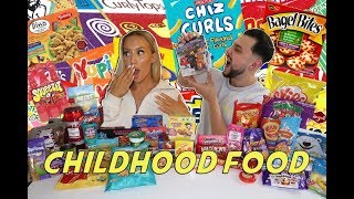 Eating ONLY CHILDHOOD FAVOURITES for 24 HOURS! FOOD CHALLENGE