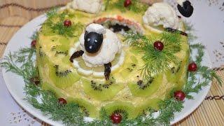 Новогодний салат Малахитовый браслет