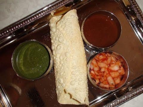 Papad Or Papadum With Chutneys - Restaurant Style Starter