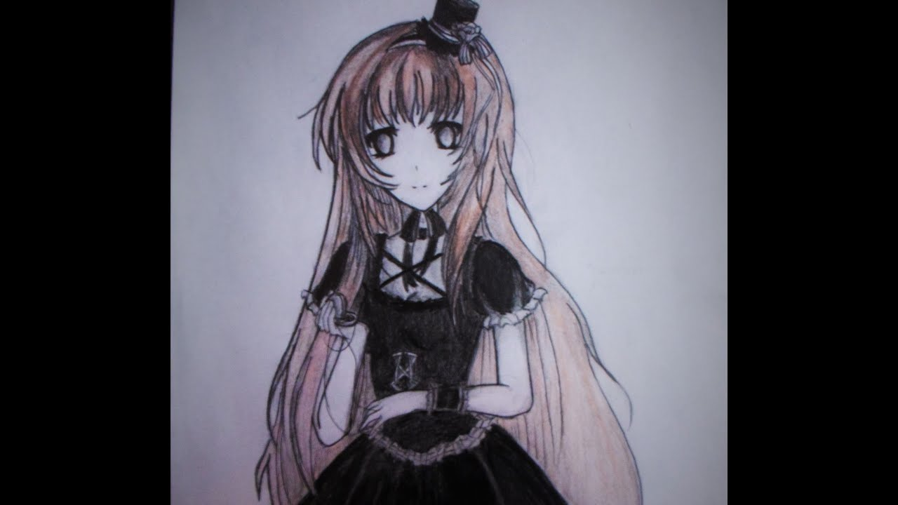anime girl Goth