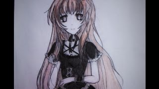 How I draw- Gothic Anime girl