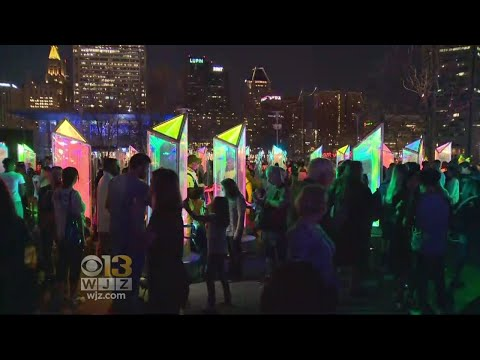 Crowds Pack Inner Harbor As Baltimore Shines Bright For Light City
