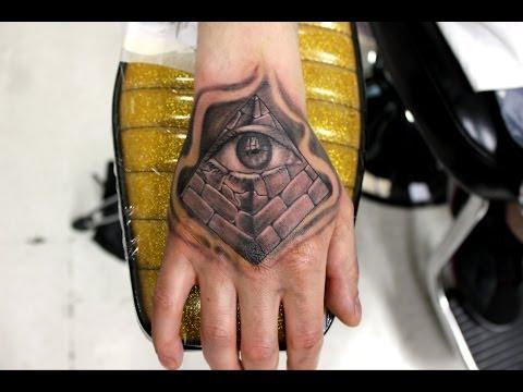 Pyramid with all seeing eye tattoo (Wylde Sydes Tattoo)