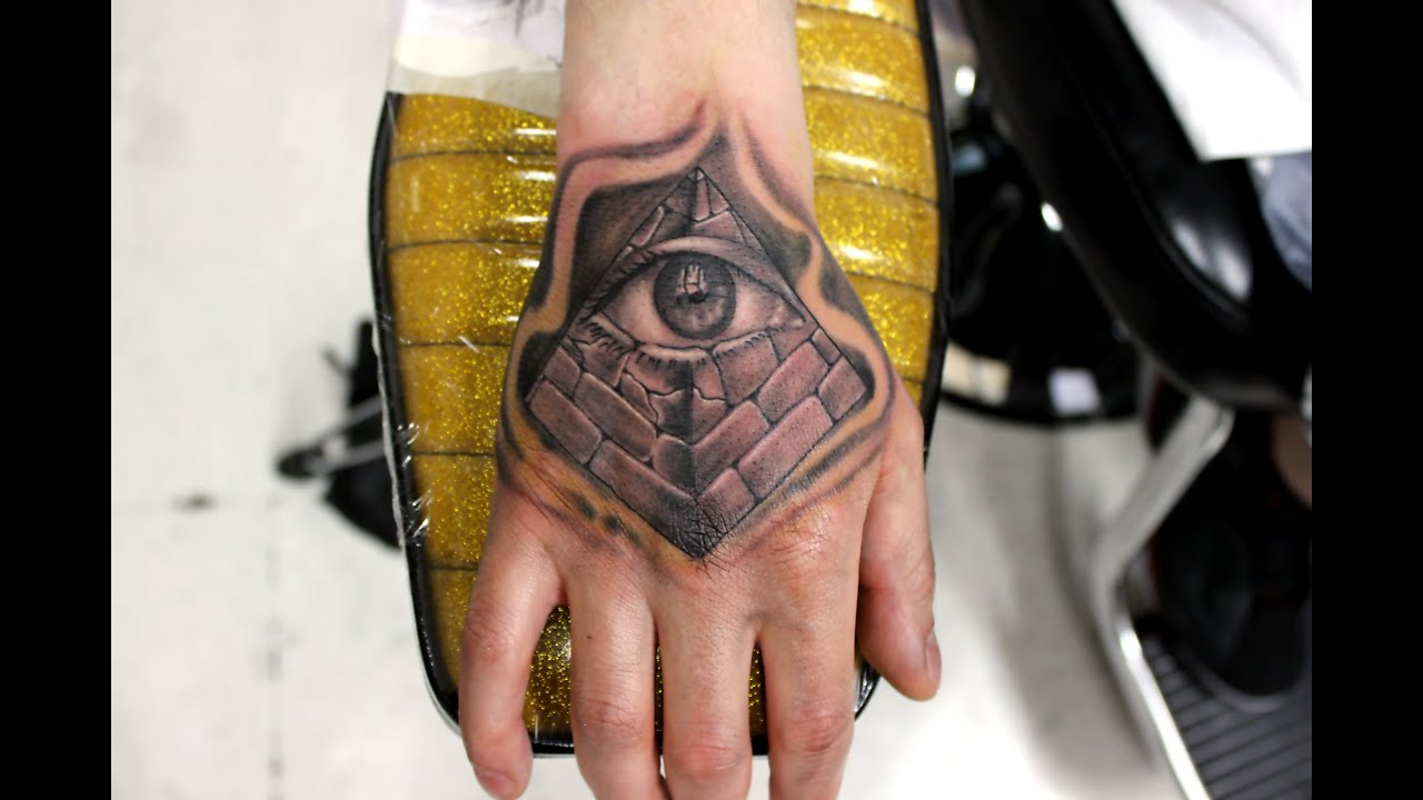 Pyramid with all seeing eye tattoo (Wylde Sydes Tattoo) - YouTube