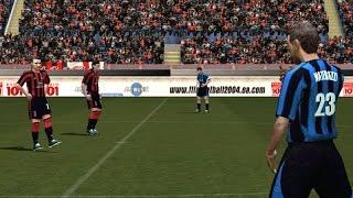 PC Retro FIFA 2004 Milan x Inter de Milão gameplay