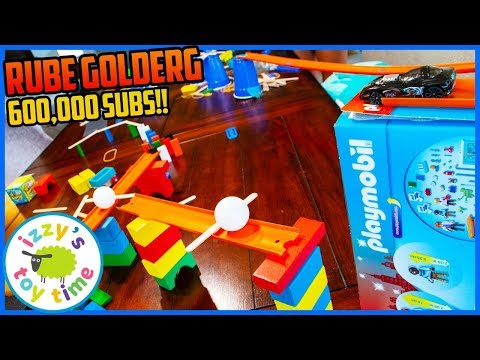 600,000 SUBSCRIBERS RUBE GOLDBERG TOY MACHINE! With Cars  And Thomas And Friends And More!