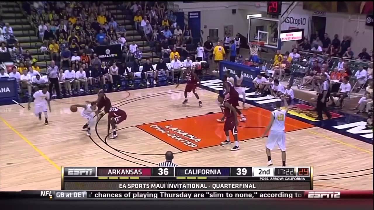 Cal Men's Basketball: Arkansas Highlights (EA Sports Maui Invitational)