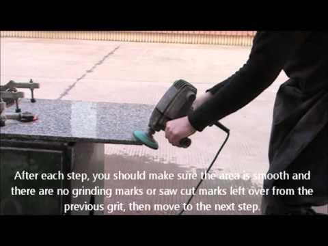 how to profile and polish granite concrete countertop diy youtube. Black Bedroom Furniture Sets. Home Design Ideas