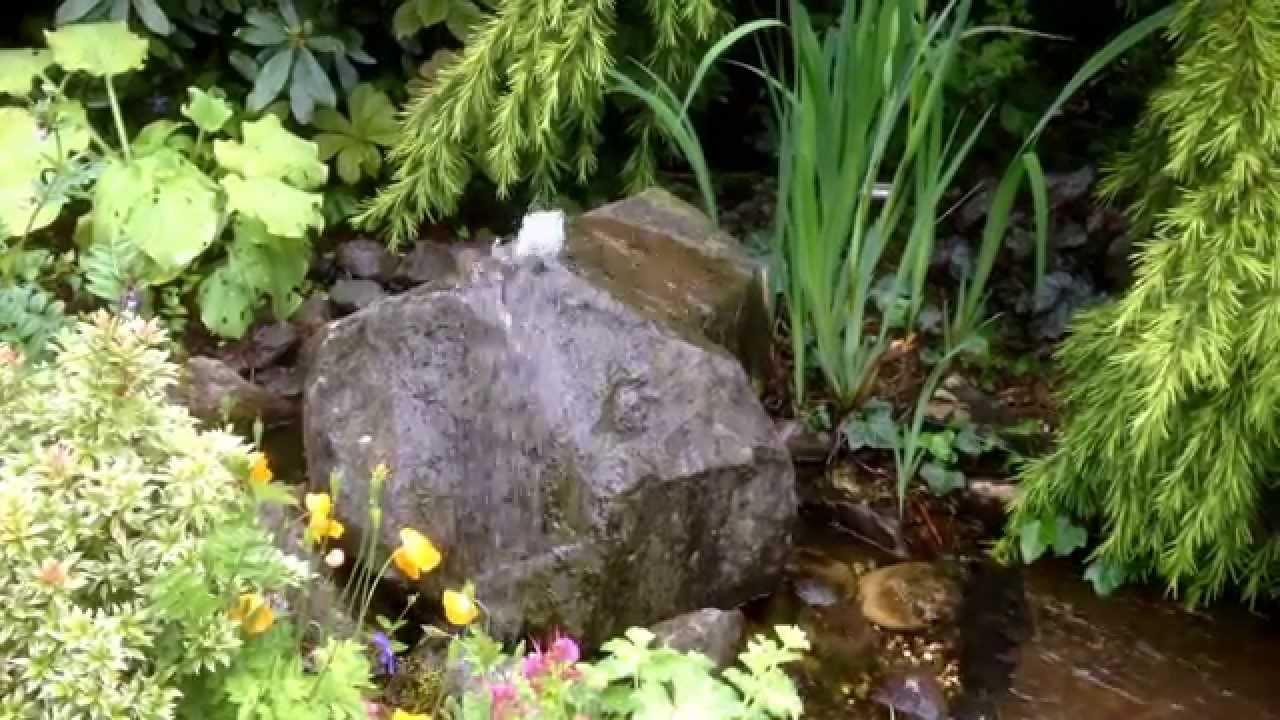 Gartengestaltung Gelbrich Wuppertal Sprudelstein Youtube