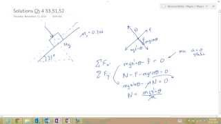 solution to a block at rest on an inclined plane with friction and applied force