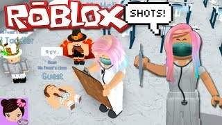 Roblox Nurse Roleplay - Taking Care of Kids and Giving Shots  in Little Angels Day Care