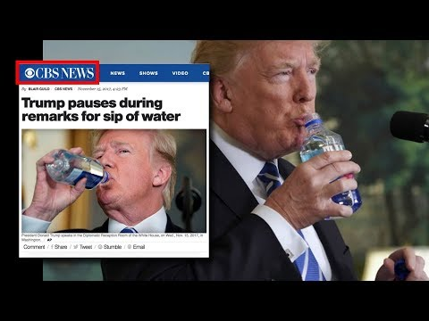 Liberal Media Goes Nuts Over Trump Taking Two Sips of Water During Post Asia Trip Speech (REACTION)