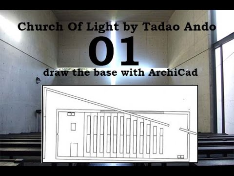 Church of Light-plans with ArchiCad
