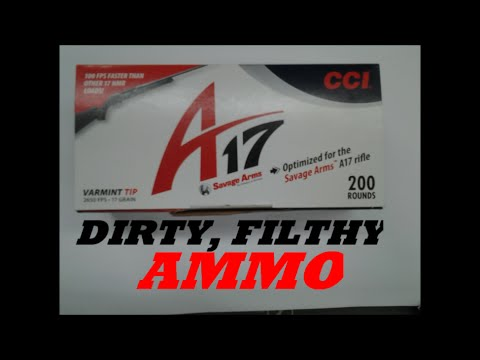 CCI A-17  DIRTY, FILTHY  AMMO!  FOULING UP THE SAVAGE A-17