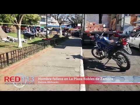VIDEO Hombre fallece en La Plaza Robles de Zamora