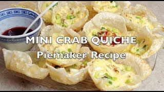 Mini Crab Quiche Piemaker Video Recipe Cheekyricho