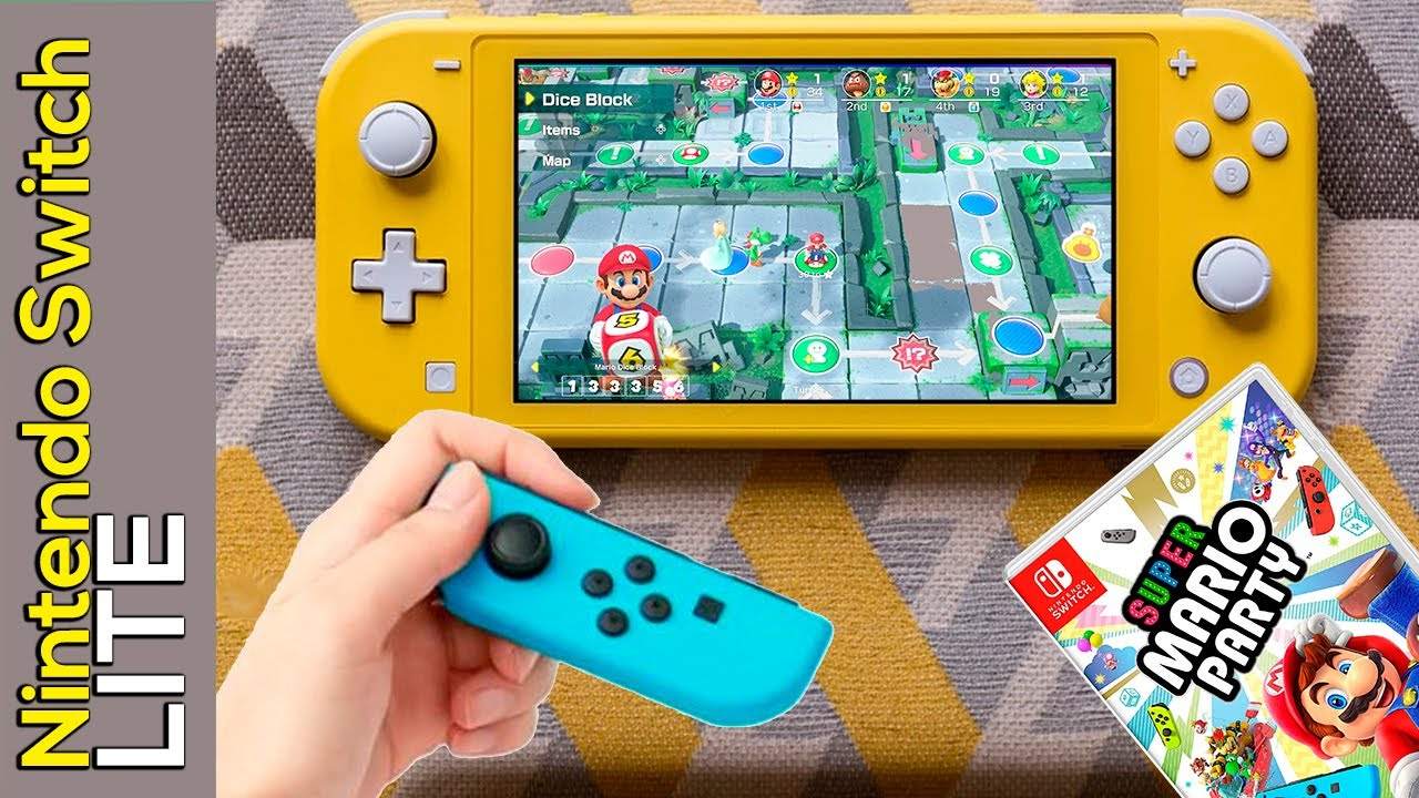 Super Mario Party On Nintendo Switch Lite Gameplay Youtube