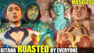 Who Roasts & Insults An Unmasked Kitana the Best? (Relationship Banter Intro Dialogues) MK 11