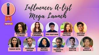 NewsX Influencer A-List   Mega Launch   Part 1    NewsX