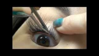 How to apply flare false eyelashes for a natural look