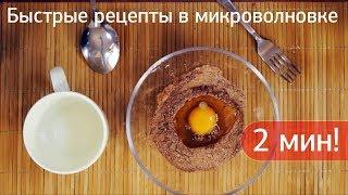 Быстрые рецепты в микроволновке. Яйца пашот, картошка, капкейки за пару минут.