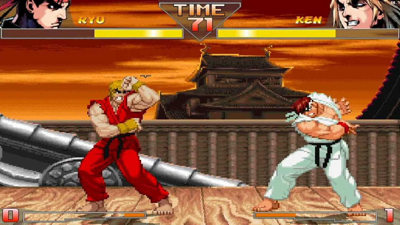 Street Fighter Hd Mugen Ryu Vs Ken Gameplay Footage Youtube