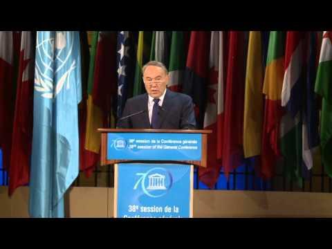 38th General Conference 6 11 2015 General Policy Debate president kazakhstan