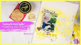 """""""Exploring the World Together"""" ~ Scrapbooking Process Video + + + INKIE QUILL"""