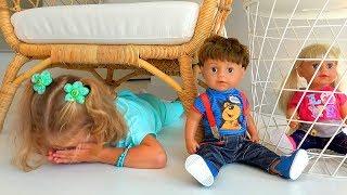 Peek A Boo Milusik Lanusik plays with surprises for kids