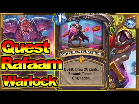 quest rafaam warlock is love the only warlock deck that you should craft now hearthstone hearthstone videos quest rafaam warlock is love the only