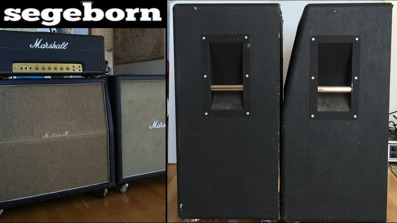 Slant Vs Straight 4x12 Marshall - 1960A Vs 1960B - YouTube