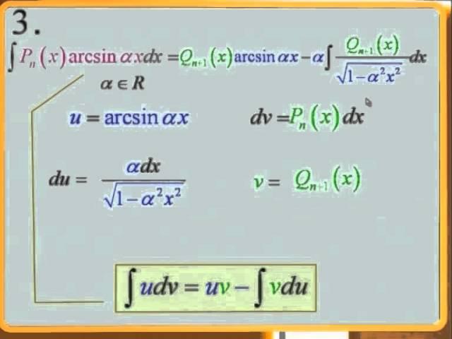 Лекция 2: Интегрирование заменой переменной. Интегрирование по частям