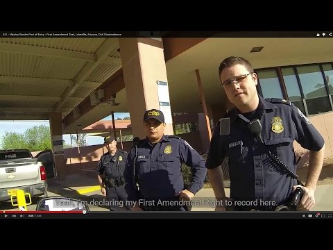 U.S. - Mexico Border Port of Entry - First Amendment Test, Lukeville, Arizona,  Civil Disobedience