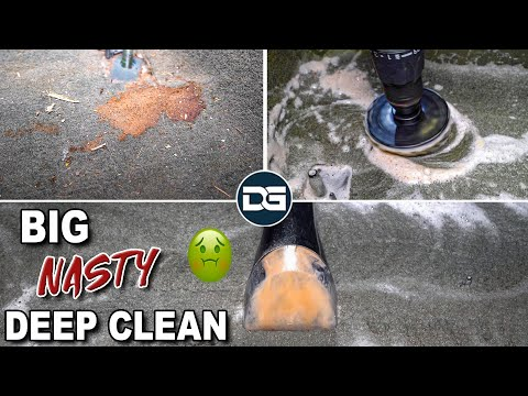 Deep Cleaning A Big DIRTY Sierra | Nasty Carpet Cleaning And Satisfying Car Detailing!