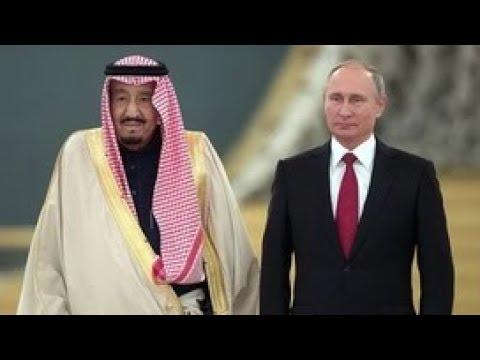 Переговоры Владимира Путина с королем Саудовской Аравии. Полное видео