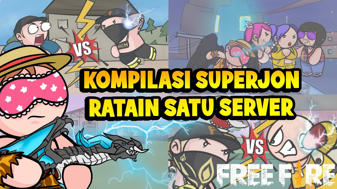 Animation Free Fire - Kompilasi Superjon Ratain Satu Server - Animasi FF